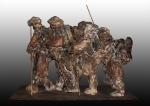 sculptures, terre, bois, métal, patine,bronze,platre, panda, panthere, lion,lionne,animalier, tigre, lion, chimpanzé, matière,